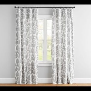 Pottery Barn drapes.  Gray.